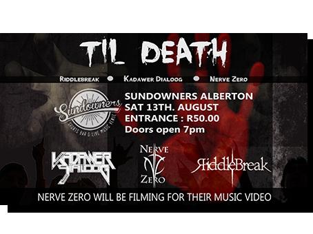 Metal gig poster